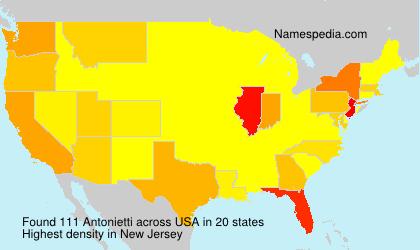 Surname Antonietti in USA