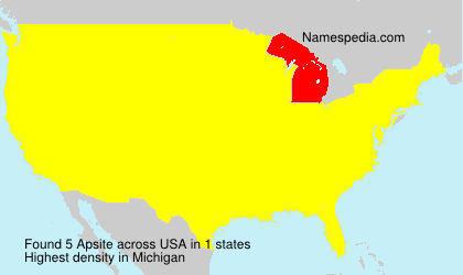 Surname Apsite in USA