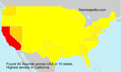 Surname Aquinde in USA