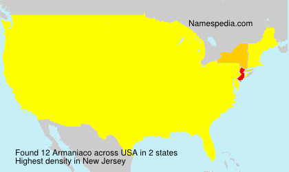 Surname Armaniaco in USA