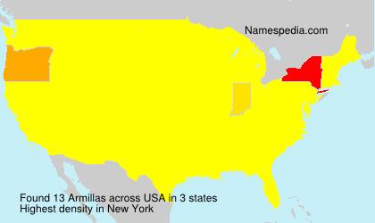 Familiennamen Armillas - USA