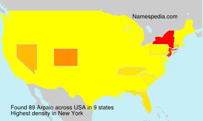 Surname Arpaio in USA