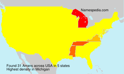 Surname Arrans in USA