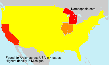 Surname Arsich in USA