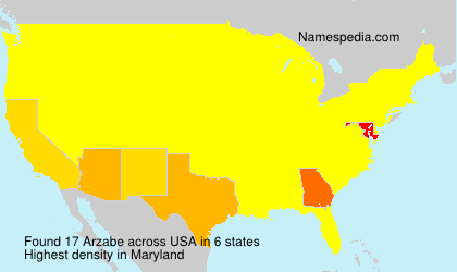 Surname Arzabe in USA