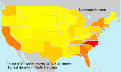 Surname Ashe in USA