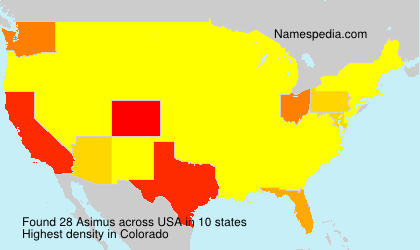 Surname Asimus in USA
