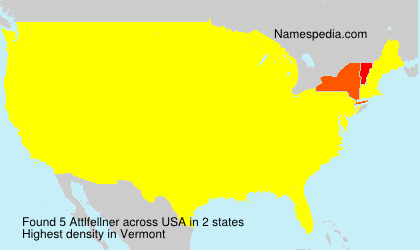Surname Attlfellner in USA