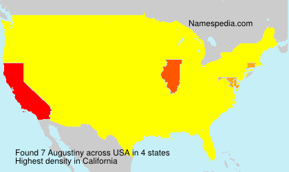 Surname Augustiny in USA
