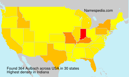 Surname Aulbach in USA