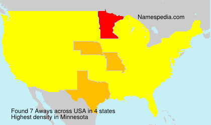 Surname Aways in USA