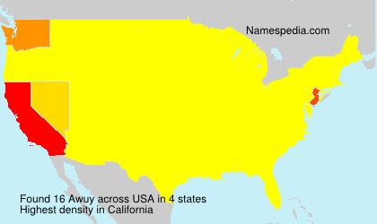 Surname Awuy in USA