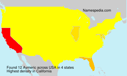 Surname Aymeric in USA