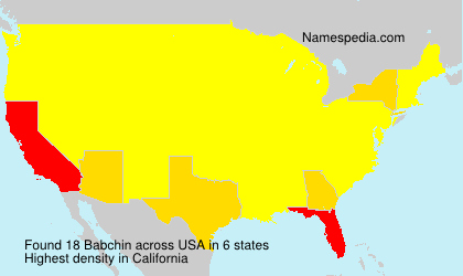 Surname Babchin in USA