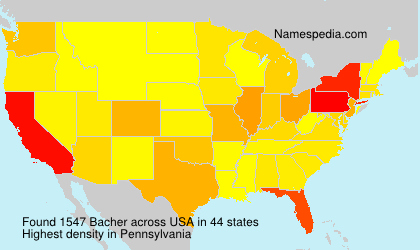Surname Bacher in USA