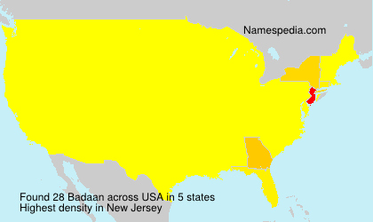 Surname Badaan in USA