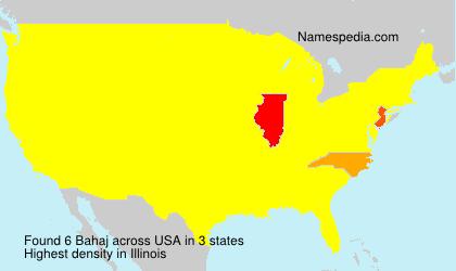 Familiennamen Bahaj - USA