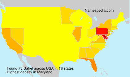 Surname Bahel in USA