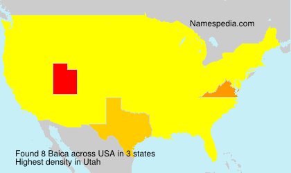 Surname Baica in USA