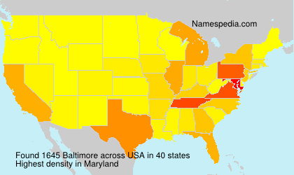 Surname Baltimore in USA