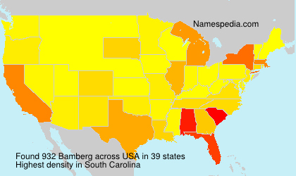 Surname Bamberg in USA