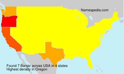 Surname Banjar in USA