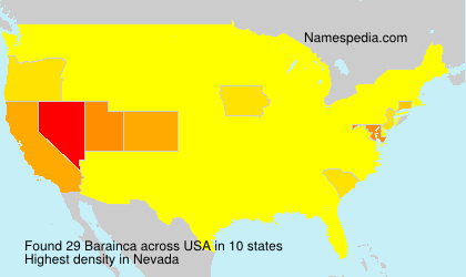 Surname Barainca in USA