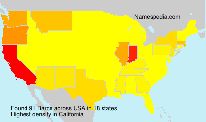 Surname Barce in USA