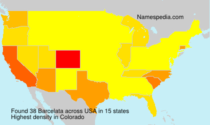 Surname Barcelata in USA