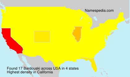 Surname Bardouski in USA