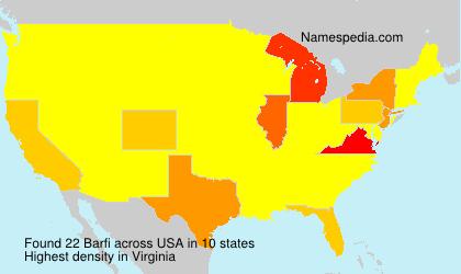 Surname Barfi in USA