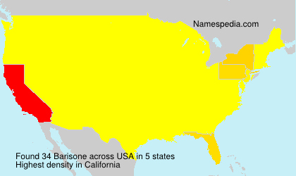 Surname Barisone in USA