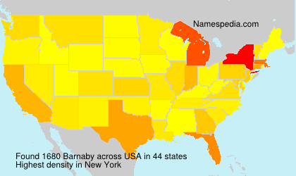 Surname Barnaby in USA