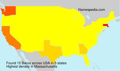 Surname Baroa in USA