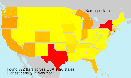 Surname Bars in USA