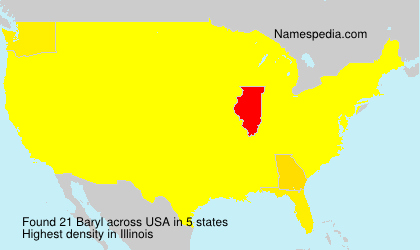 Surname Baryl in USA