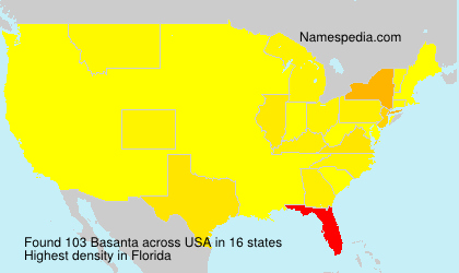 Surname Basanta in USA