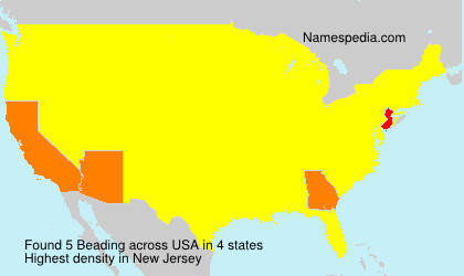 Surname Beading in USA