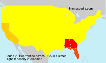 Surname Bearrentine in USA