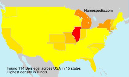 Surname Beisiegel in USA