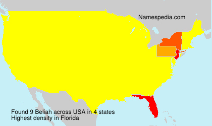 Familiennamen Beliah - USA