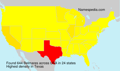Surname Belmares in USA