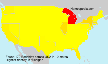 Surname Benchley in USA