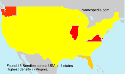 Surname Bendien in USA