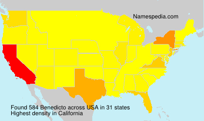 Surname Benedicto in USA