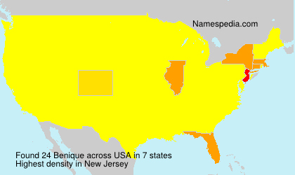 Surname Benique in USA