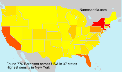 Surname Berenson in USA