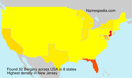 Surname Bergery in USA