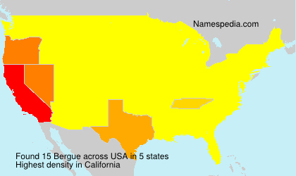 Surname Bergue in USA