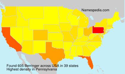 Surname Berringer in USA